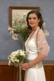 A bride ready to leave to church Stock Photos