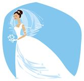 Bride is ready2. Beautiful bride is ready for wedding ceremony Vector Illustration