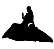 Bride realistic silhouette vector illustration Royalty Free Stock Images