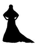 Bride realistic silhouette vector illustration Stock Image