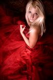 Bride in red Stock Photos