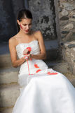 Bride with Red Paint Royalty Free Stock Photos