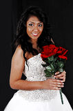 Bride with red roses. Stock Images