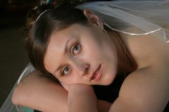 Bride at rest Royalty Free Stock Images