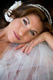 Bride Rests Head on Hand Royalty Free Stock Images