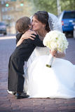 Bride with Ring Bearer royalty free stock photo