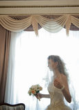 The bride in a room. Stock Images