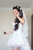 Bride in the room Royalty Free Stock Photography