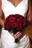 Bride with Rose Bouquet Royalty Free Stock Photo
