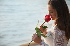 Bride with rose Royalty Free Stock Images