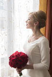 Bride with roses Royalty Free Stock Image
