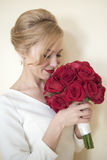 Bride with roses Royalty Free Stock Photography