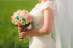 Bride with Roses Royalty Free Stock Photo