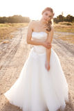 Bride in a Rural Landscape Royalty Free Stock Photo