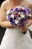 Bride's bouquet. Bride holding wedding bouquet at wedding Stock Photo
