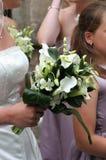 Brides Bouquet Flowers Wreath Wedding stock photos