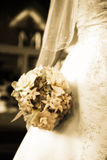 Bride's bouquet. Detail shot of a bride's bouquet on her wedding day Royalty Free Stock Photos