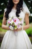 The bride& x27;s bouquet royalty free stock photo