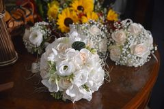 The bride`s bouquet royalty free stock image
