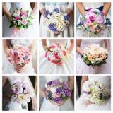 Bride's bouquet. Collage. Stock Image