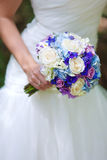 The bride's bouquet. Photo of the bride holding a bouquet Stock Image