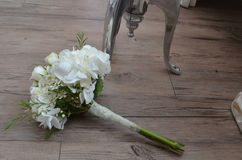 The Bride`s Bouquet, Rustic Wedding Stock Images
