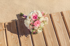 Bride's Bouquet on Tropical Beach Stock Photos