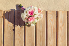 Bride's Bouquet on Tropical Beach Royalty Free Stock Images