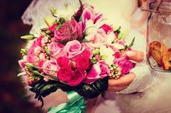 Bride's bouquet, vintage Royalty Free Stock Photos