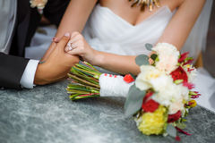 The bride's bouquet. Wedding day Royalty Free Stock Images