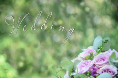 The bride's bouquet. Wedding bouquet on a green background Stock Photography