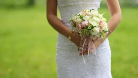 The bride's bouquet stock video footage