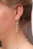 Bride`s earring Stock Photo