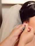 Bride's Earring Stock Photo
