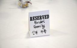Bride's family Royalty Free Stock Photo