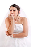 Bride's fear... Royalty Free Stock Photos