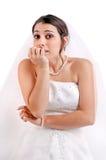 Bride's fear... royalty free stock photos