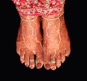 Bride's feet Stock Photography
