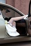 Bride's feet. Royalty Free Stock Photo