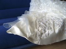 Bride's gown part Stock Photo