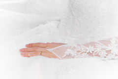Bride's hand Stock Photo