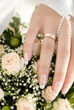 Bride's hand Stock Image
