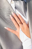 A bride's hand Royalty Free Stock Photography