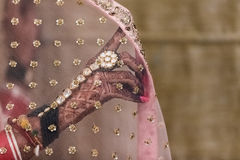 A bride`s hand Stock Image