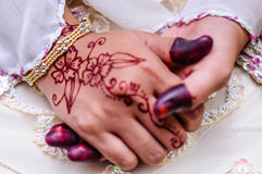Hand wearing Henna Royalty Free Stock Photos