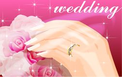 Bride's hands Royalty Free Stock Images