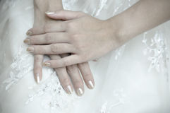 Bride's hands Royalty Free Stock Photos