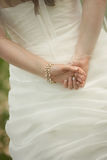 bride's hands Royalty Free Stock Photo