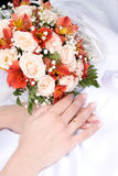 Bride's hands Royalty Free Stock Image