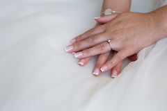 Bride s hands Royalty Free Stock Photo